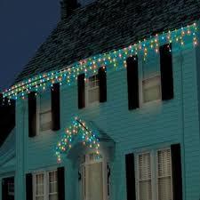 icicle christmas lights trim a home led 100ct icicle christmas lights multi colored