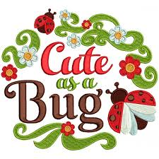design embroidery as a bug ladybug filled machine embroidery design digitized pattern