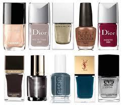 trendy nail polish colours for autumn winter 2014 3 colours rule