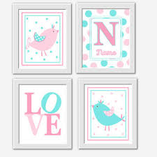 Nursery Bird Decor Owl Baby Nursery Wall Pink From Dezignerheartdesigns On