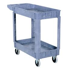 Utility Dolly Home Depot by Vestil 17 5 In X 31 In 2 Shelf Plastic Utility Cart Plsc 2 1731