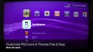 customize ps3 icons themes for free easy