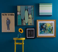Blue Feature Wall In Bedroom A Wall In Naples Blue Interiors By Color