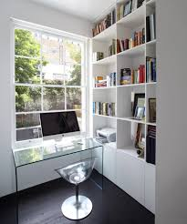 small study room with clear chair home office contemporary and