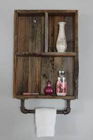 Bathroom Wall Cabinet With Towel Bar Modern Rustic 2 Tier Bathroom Shelf With Nickel Finish Towel Hooks