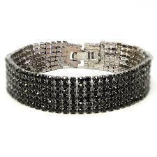 fossil man bracelet images Black rhinestone bracelet jpg