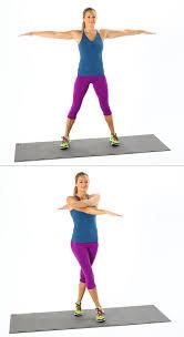 Arm Cross - plyometrics cross jacks best bodyweight exercises popsugar