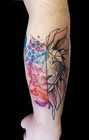 cooltop geometric tattoo realism meets abstract meets dotwork