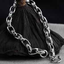chain link bracelet sterling silver images Men 39 s sterling silver link chain bracelet jpg