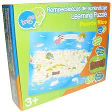 Map Puerto Rico Amazon Com Ingenio Puerto Rico Map Bilingual Learning Puzzle