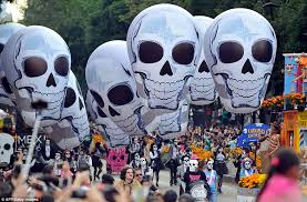 thousands celebrate day of the dead in mexico city parade daily