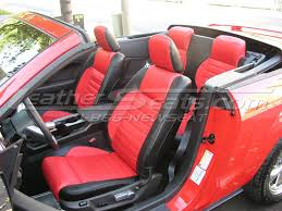 Mustang Red And Black Ford Mustang Leather Interiors