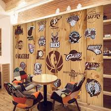 chambre basketball 5d papel murals basketball team logo 3d wall photo mural wallpaper