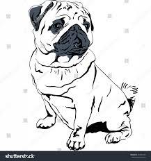 vector sweet dog pug breed hand stock vector 232401460 shutterstock