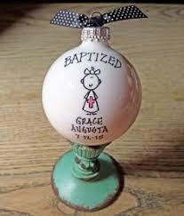 Baptism Christmas Ornament Personalized Baptism Church Keepsake Ornament Kitchen Ideas
