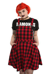 red u0026 black plaid overall dress topic