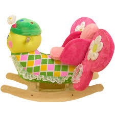 Rocking Horse High Chair Amazon Com Rockabye Bonita Butterfly Rocker One Size Toys U0026 Games