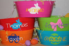 easter buckets wholesale personalized easter basket you fill oval