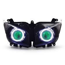 kt headlight for yamaha fz1 fz1s 2006 2015 led angel eye green