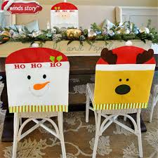 snowman chair covers christmas dining chair cover party decoration home