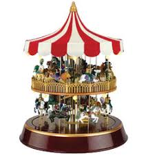 mr decker carousel box 79121 snowglobes