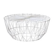 Wire Coffee Table Interiors Studio Wire Coffee Table White 90cm Modern