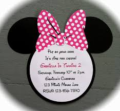 easy minnie mouse birthday invitations decorating of party
