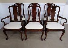 queen anne style dining room chairs ebay