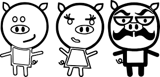 3 small pigs coloring wecoloringpage