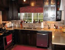 Ideas For Kitchen Countertops And Backsplashes Rustic Granite Kitchen Countertops Decorating Ideas For Counters