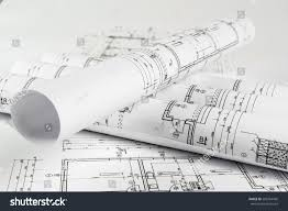 and house plans architect rolls house plans stock photo 583764430