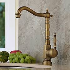 Home Built Antique Brass Finish Widespread Kitchen Sink Faucet - Brass kitchen sink