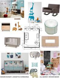 concept board for nursery furniture jill seidner interior