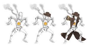 robot cowboy style sketches by kylecbastian on deviantart
