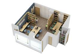 3d model floor plan work modern office interior 3d model cgtrader