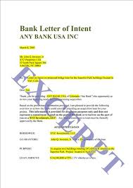 letter of intent for bank loan example mediafoxstudio com