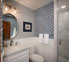 good looking natural fiber wallpaper with beach style bathroom