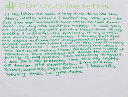 survivors of sexual abuse write love letters to themselves