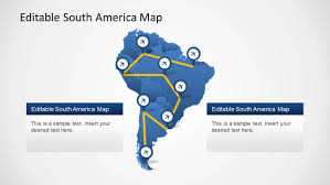 United States Map Powerpoint Template by South America Map Template For Powerpoint Slidemodel