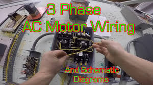 a simple circuit diagram of contactor with three phase motor at 3