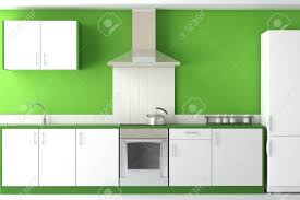 Kitchen Green Kitchen Colors Stock Interior Design Of Clean Modern Green And White Kitchen Stock