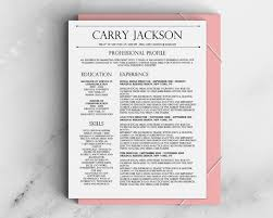 carry jackson modern 2 page fancy resume cover letter