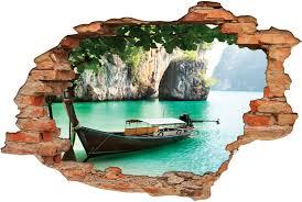 stickers trompe oeil mural stickers trompe l u0027oeil 3d bateau des prix 50 moins cher qu u0027en