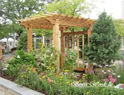 wood arbors with gates seven foot wide wood arbor with a