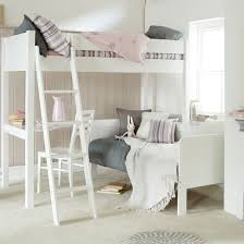 High Sleeper With Sofa Fargo Ivory High Sleeper With Day Bed And Desk Ollie Leila