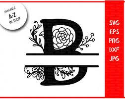 Monogram Letter B Split Monogram B Etsy