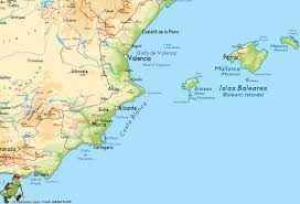 Andalucia Spain Map by