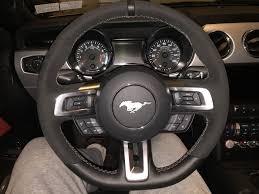 mustang steering wheels gt350 steering wheel install 2015 16 mustang the mustang