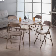 Folding Wood Card Table Excellent Peachy Cosco Card Table And Chairs Ideas In Square