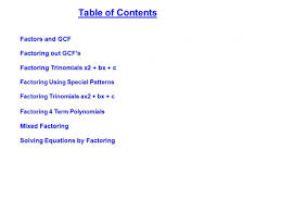 womackmath 1st and 6th hour algebra 1 factoring trinomials of the